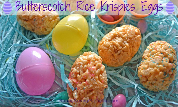 Butterscotch Rice Krispies Eggs
