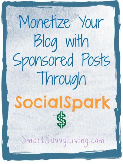 Monetize Your Blog with Sponsored Posts Through SocialSpark
