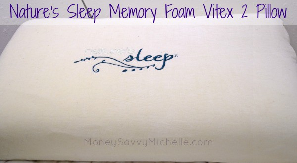 Nature's Sleep Memory Foam Vitex 2 Pillow Review