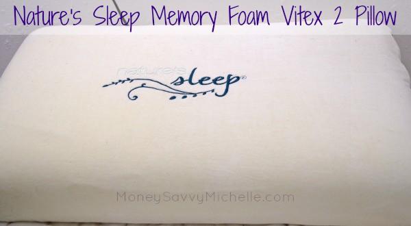 Nature's Sleep Memory Foam Vitex 2 Pillow Review