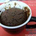 Chocolate mug cake baked wm