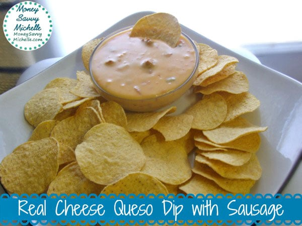 Real Cheese Queso Dip with Sausage