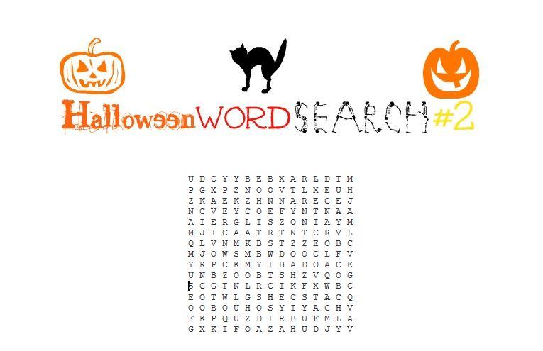 Free Printable Halloween Word Search #2
