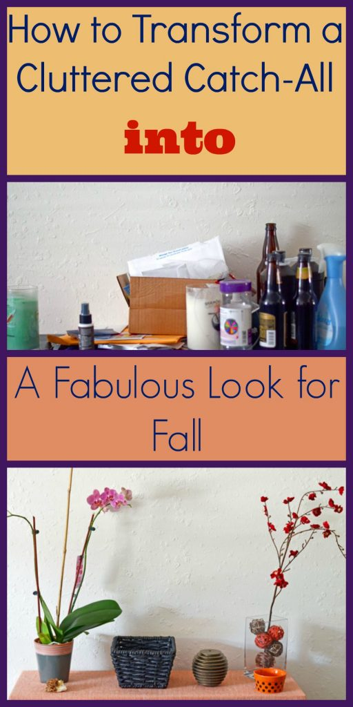 How to Transform a Cluttered Catch-All into a Fabulous Look for Fall