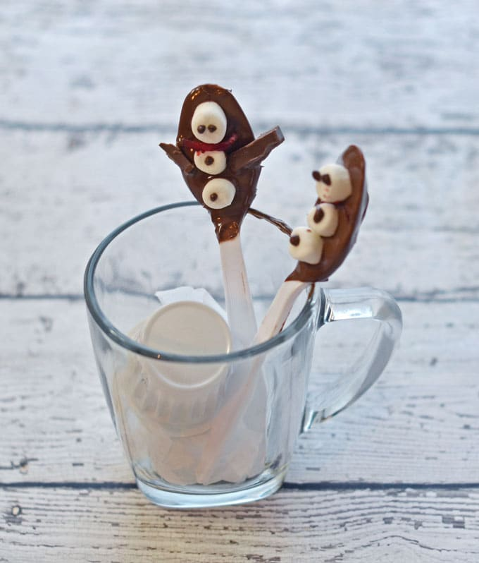 Snowman Hot Chocolate Spoons Recipe #shop