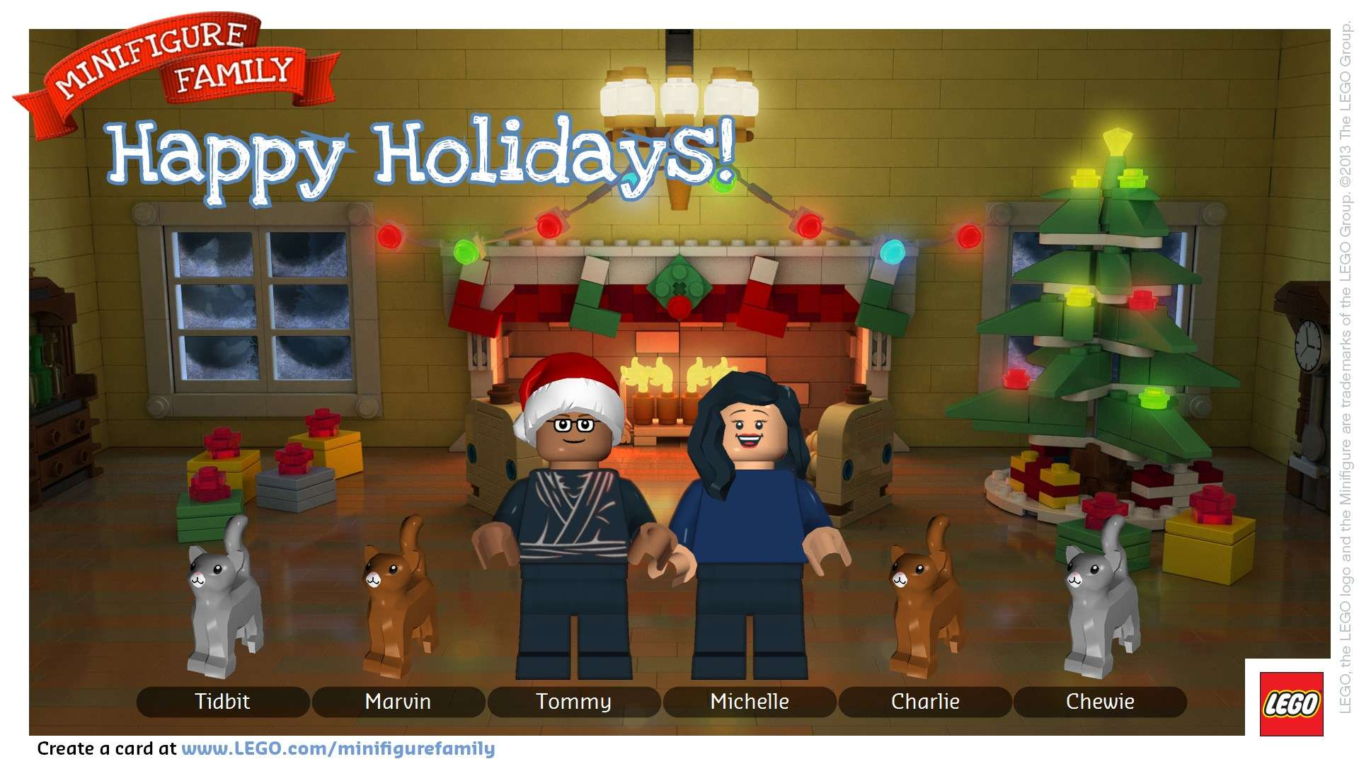 LEGO Minifigure Holiday Greetings