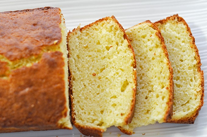 Olive Oil Sour Cream Pound Cake with Lemon Recipe #shop