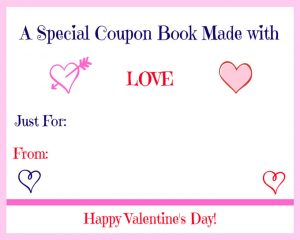 Free Printable Valentine's Day Coupon Book cover