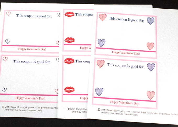 Free Printable Valentine U0026 39 S Day Coupon Book