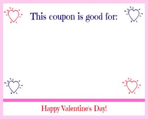 Free Printable Valentine's Day Coupon Book cupid hearts