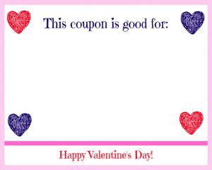 Free Printable Valentine's Day Coupon Book Drawn Hearts