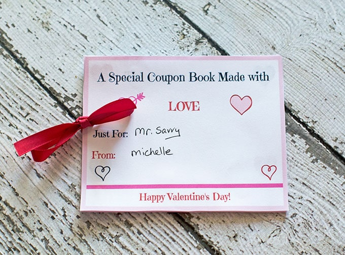 this free printable valentines day coupon book is a great frugal valentines day gift idea if