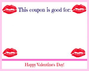 Free Printable Valentine's Day Coupon Book Hot Lips