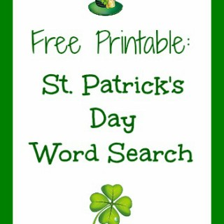 st patricks day word search graphic