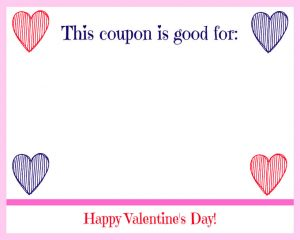 Free Printable Valentine's Day Coupon Book Striped Hearts