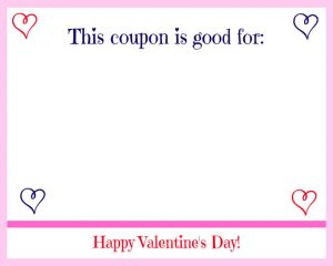 Free Printable Valentine's Day Coupon Book Swirly Hearts