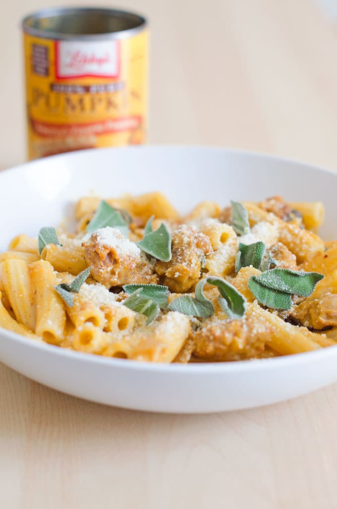 Rigatoni with Spicy Pumpkin and Sausage Sauce Recipe 2