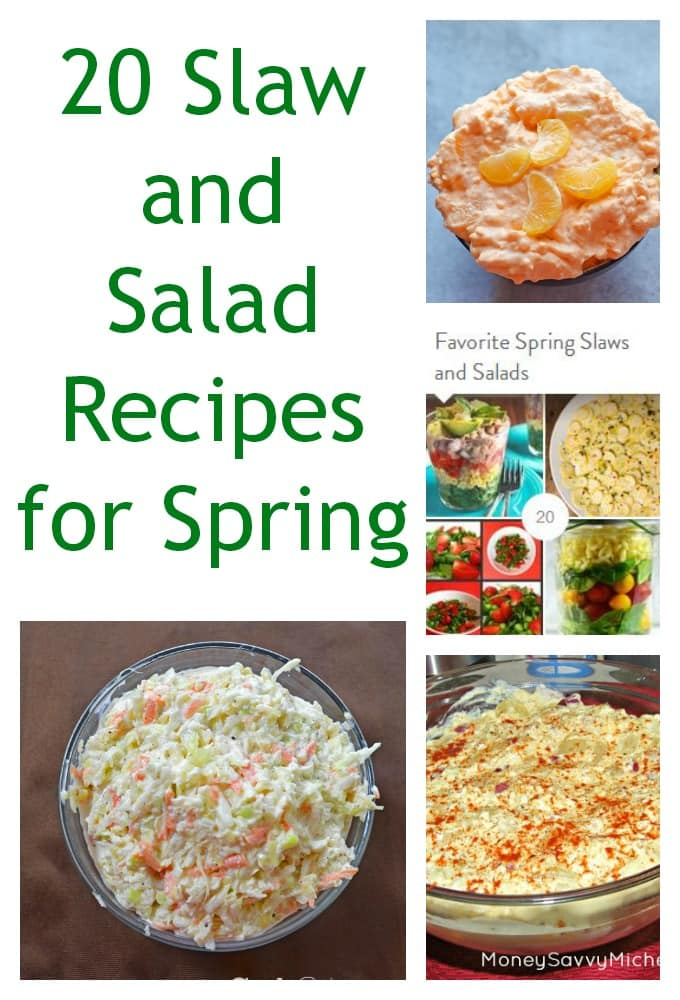 20 Spring Slaw and Salad Recipes | SmartSavvyLiving.com