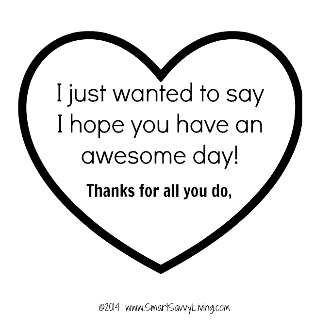 I hope you have an awesome day printable