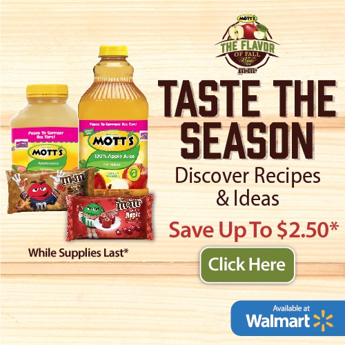 Save on Fall Recipes with M&M's and Mott's