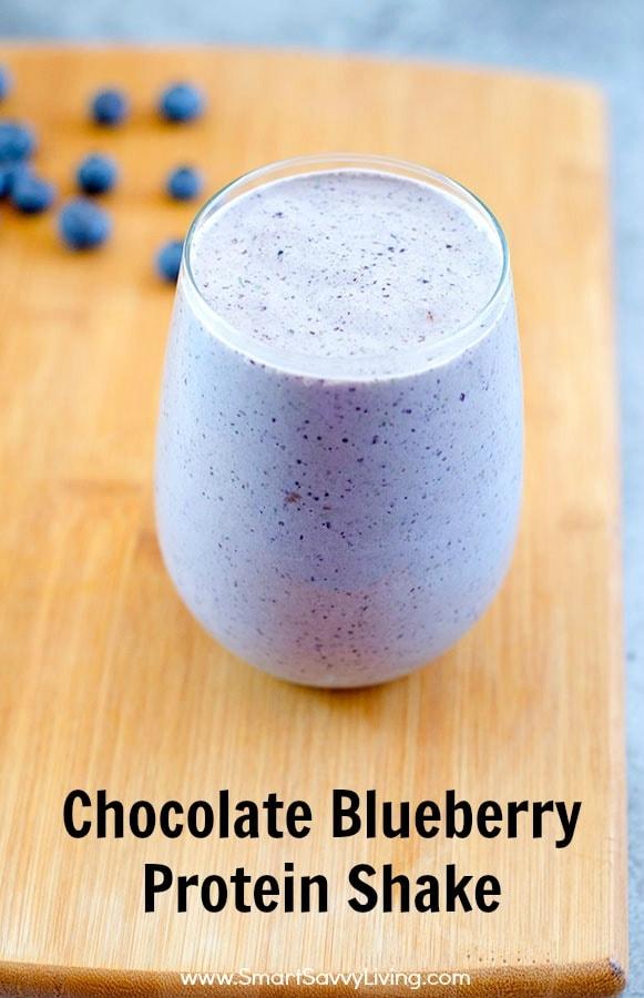 Chocolate Blueberry Protein Shake Recipe