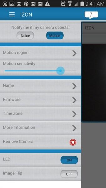 The izon camera app.