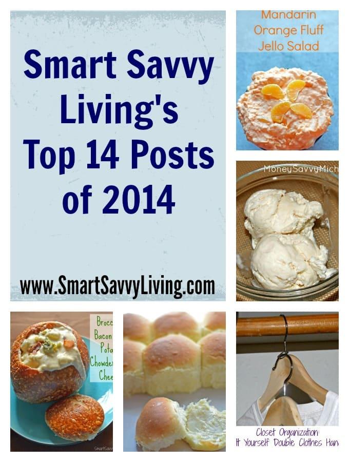 smart savvy living's top 14 posts of 2014