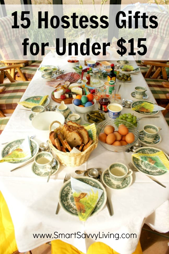 Want to get your dinner or party hostess a gift to enjoy without breaking your budget? Check out these 15 Hostess Gifts for Under $15.
