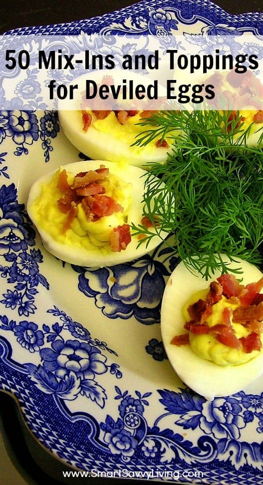 Tired of the same old plain deviled egg recipes? Check out these 50 Mix-Ins and Toppings for Deviled Eggs!
