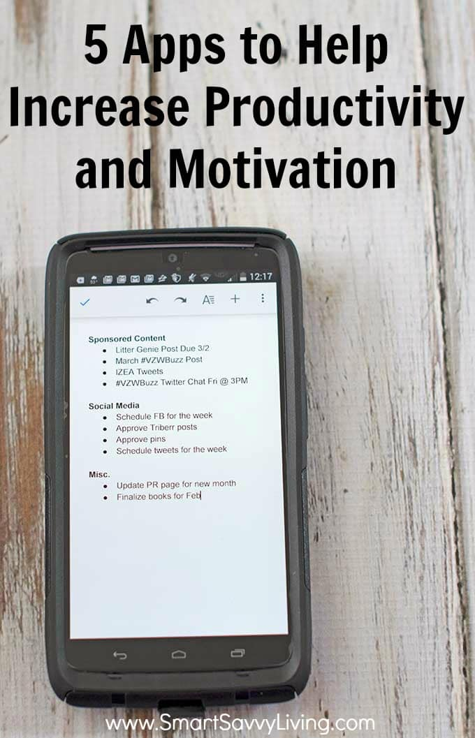 5 Apps to Help Increase Productivity and Motivation