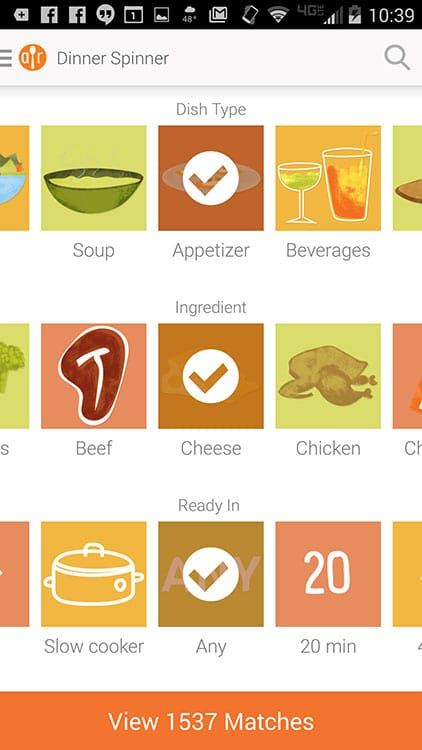 AllRecipes-Dinner-Spinner-App