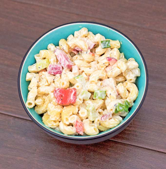 Macaroni-Salad-with-Cucumber-and-Radish-Recipe