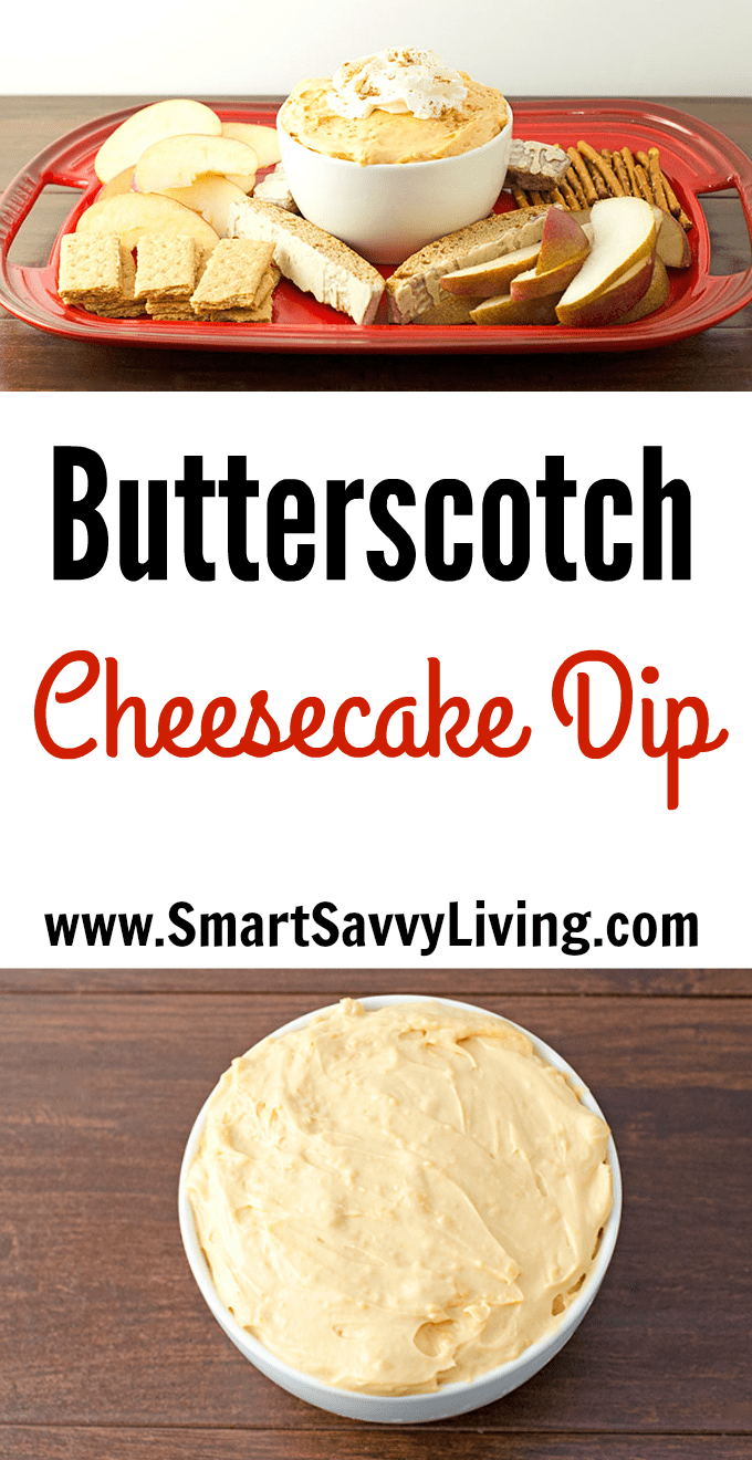 Butterscotch Cheesecake Dip Recipe | Looking for an easy dessert recipe that everyone will love? This is one perfect dessert dip recipe for parties that your guests will keep going back to enjoy!