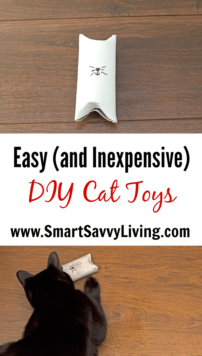 Easy DIY Cat Toys Tutorial | Have you ever bought your cat a neat expensive cat toy that only got played with once or twice and they prefer to play with random things around the house instead? Only all the time for us. Instead, I now make homemade cat toys. You won't believe how quick and easy this DIY cat toy is to make! MyCatMyMuse