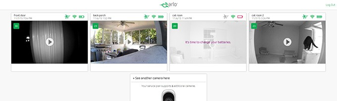 arlo in browser
