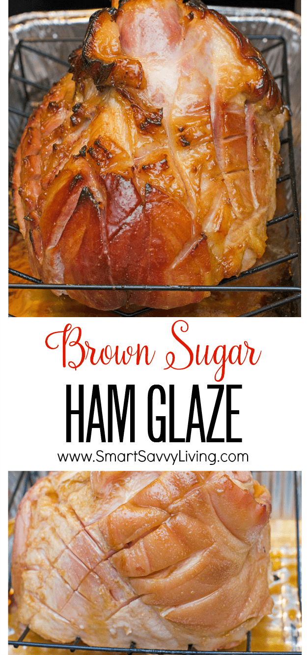 brown sugar ham glaze recipe collage