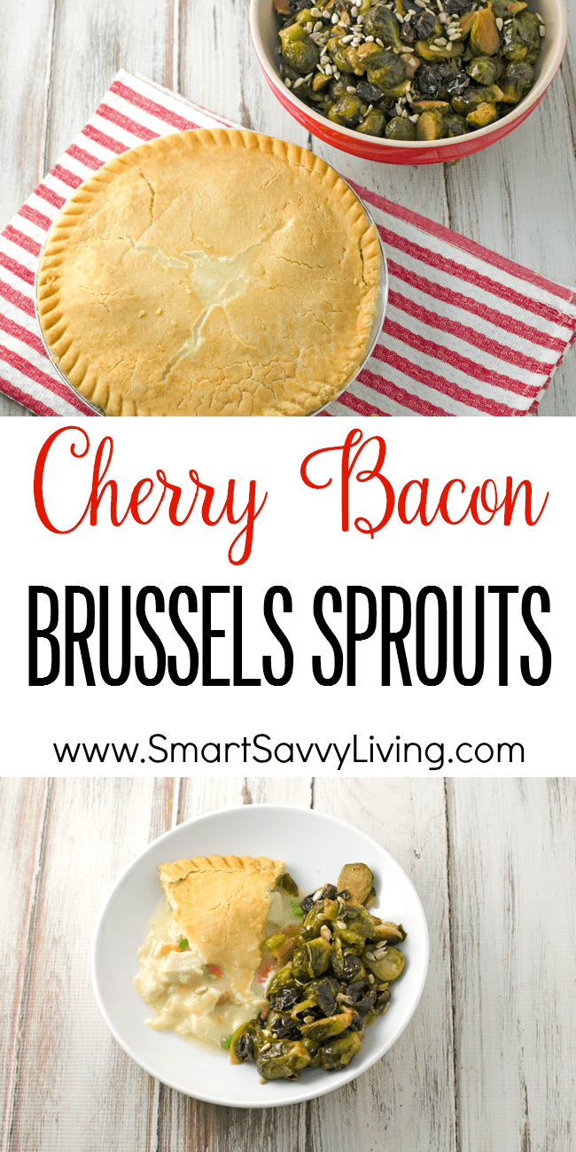 Cherry Bacon Brussels Sprouts Recipe collage
