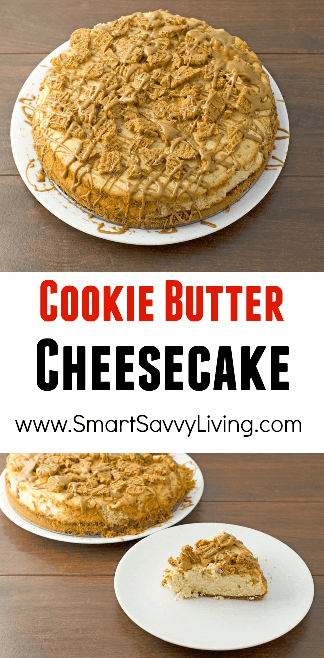 Cookie Butter Cheesecake Recipe   Add this cookie butter cheesecake recipe to the list of desserts EVERYONE will love!