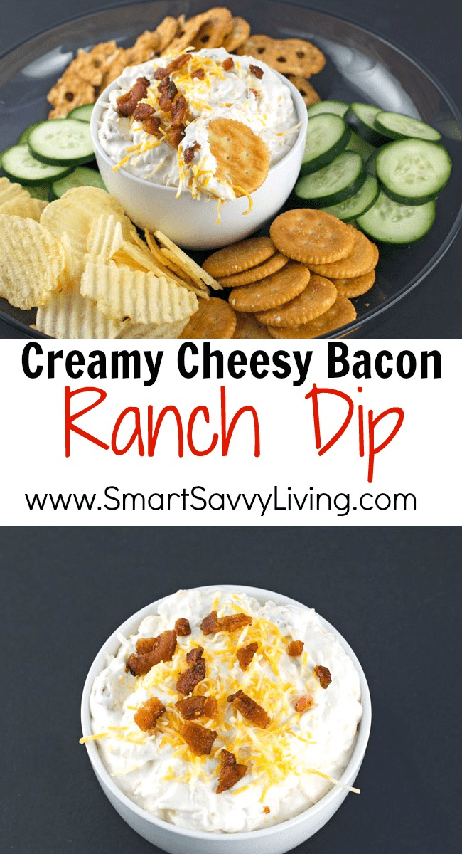 Creamy Cheesy Bacon Ranch Dip Recipe