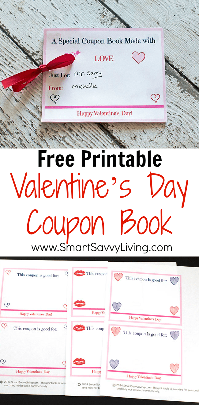 printable valentine s day coupon book this printable valentine s day coupon book is a great frugal valentine s day gift idea if