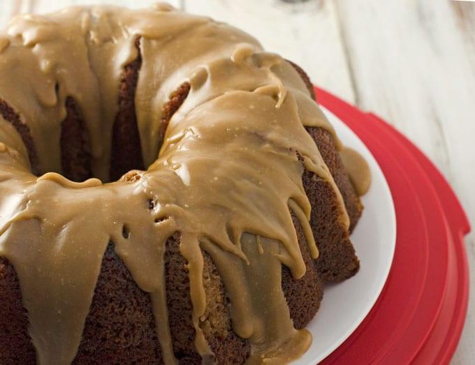 Spice Bundt Cake With Salted Caramel Glaze Recipe