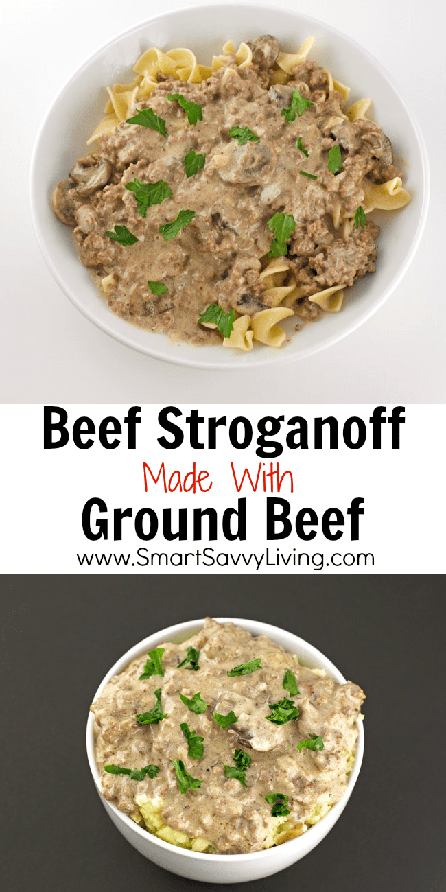 Beef Stroganoff Made With Ground Beef Recipe