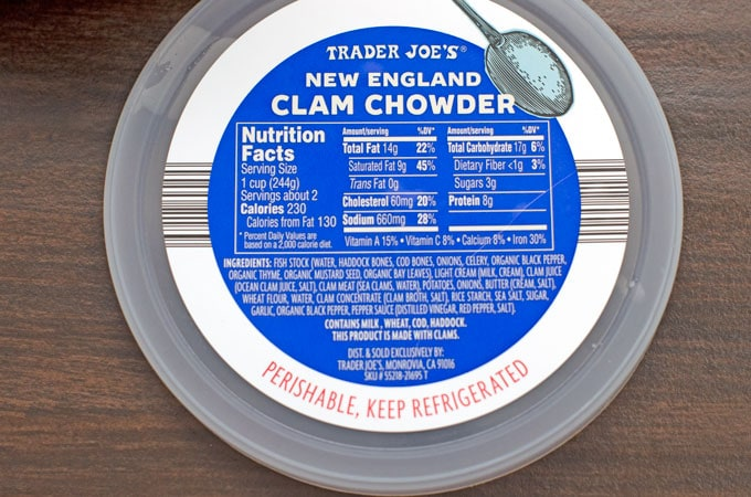 Trader Joe's Refrigerated New England Clam Chowder Review