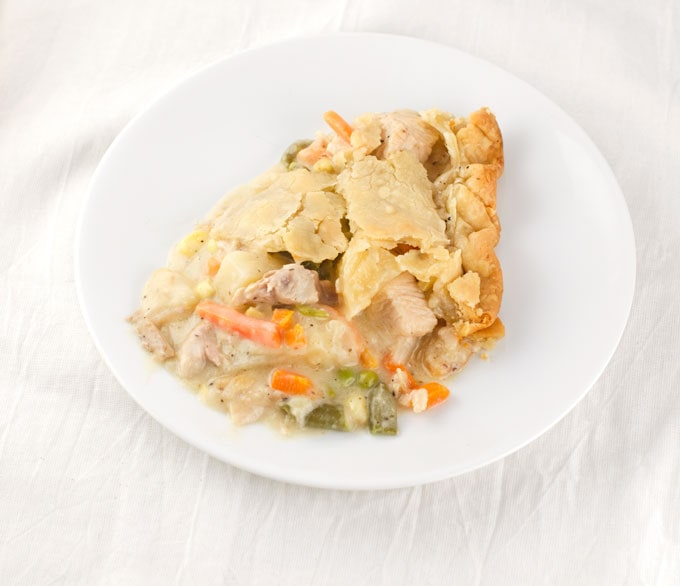 Easy Turkey Pot Pie Recipe | Looking for leftover turkey ideas? Look no further! This easy turkey pot pie recipe takes less time to make than you'd probably think making it the perfect comfort meal for dinner without spending all day in the kitchen.