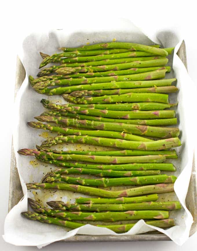 Easy Roasted Lemon Asparagus Recipe