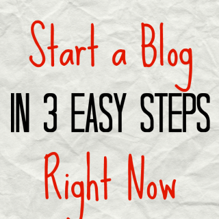 How To Start A Blog In 3 Steps Right Now
