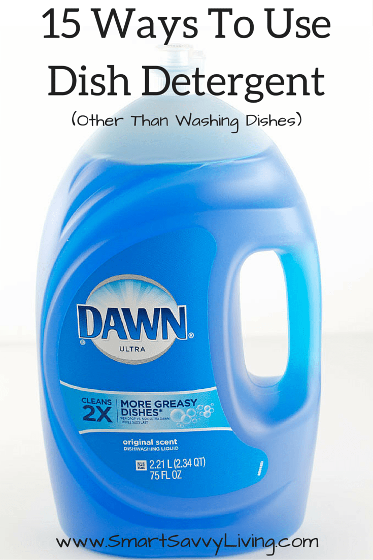 15 Ways To Use Dish Detergent (Other Than Washing Dishes)