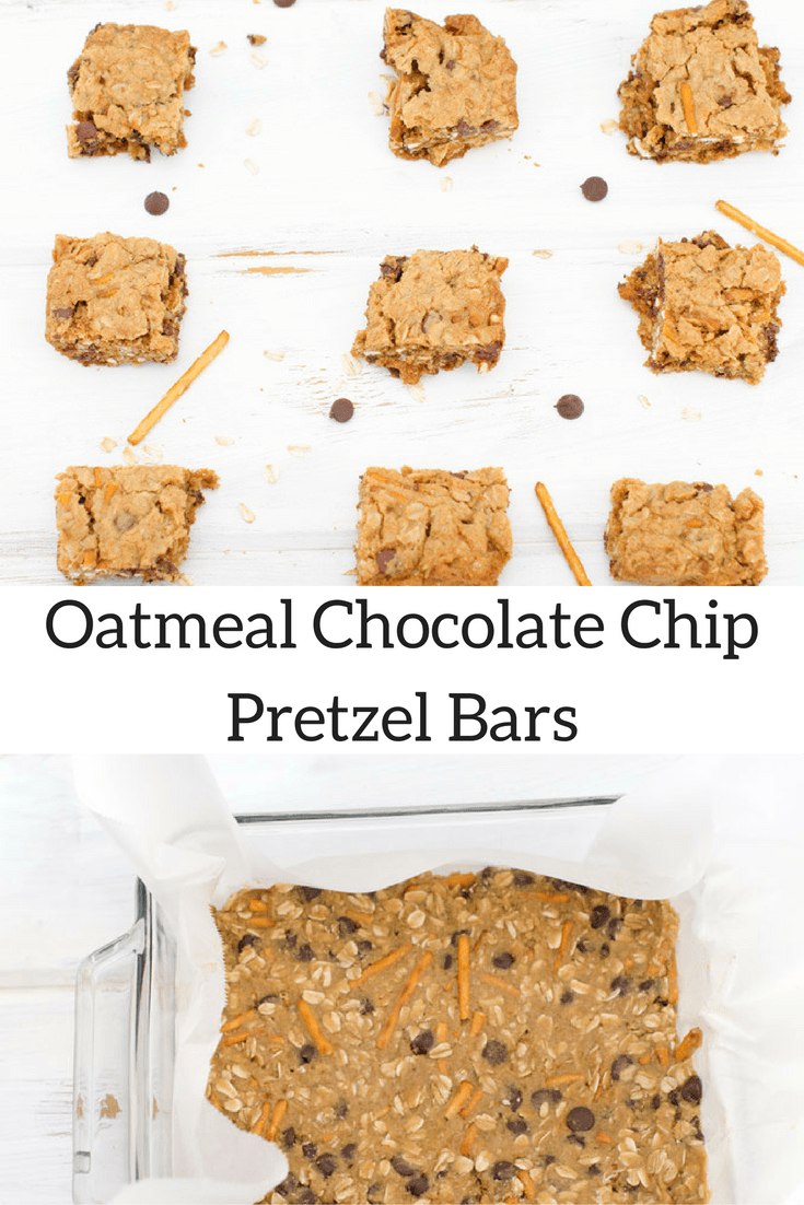 Oatmeal Chocolate Chip Pretzel Bars