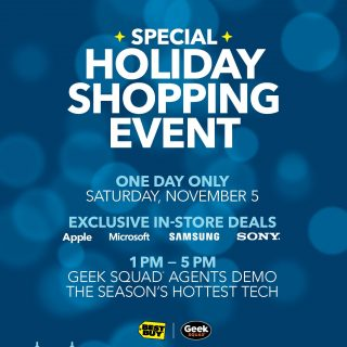 Don't Miss the Best Buy Holiday Shopping Event On 11/5