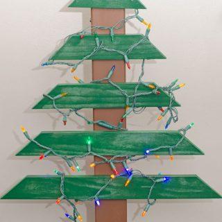 diy-wood-christmas-tree-lights-on